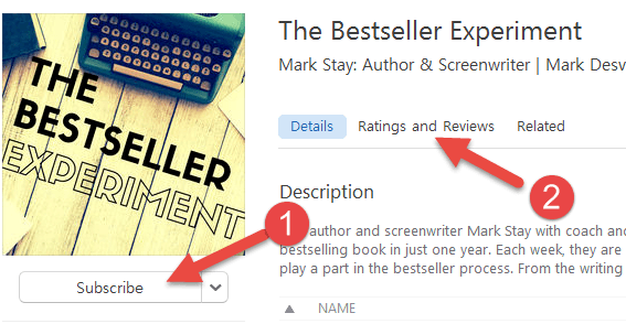 Subscribe to The Bestseller Experiment on iTunes